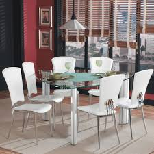 Frosted Glass Dining Room Table Triangle Dining Table Wood Material Straight Legs Black Metal Leg