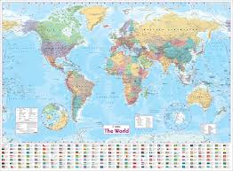 wall maps world wall laminated map collins uk 8601200955422 books