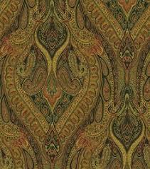 orange linen paisley upholstery fabric by the yard pink orange