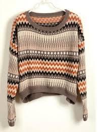 vintage stripe tribal sweater deepblue on artfire