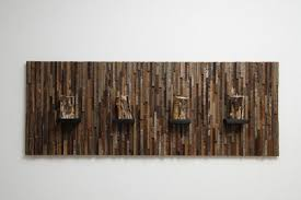 distressed wood artwork magnificent exles of reclaimed wood wall