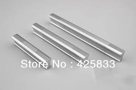 Mm Aluminium Alloy Kitchen Cabinets Pulls Dresser Knobs Chrome - Kitchen cabinet handles