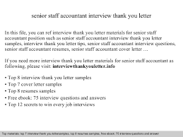 Sample Resume For Staff Accountant by Senior Staff Accountant