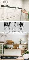 How To Hang Shelves by How To Install Heavy Duty Floating Shelves For The Kitchen
