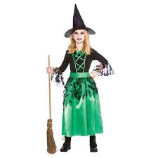 rockin witch costume child deluxe girls wicked witch with hat oz halloween fairytale fancy