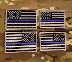 Subdued American Flag With Thin Blue Line Thin Blue Line Subdued American Flag Patch Law Enforcement
