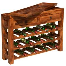 wine rack console table solid wood 2 drawer wine rack console table