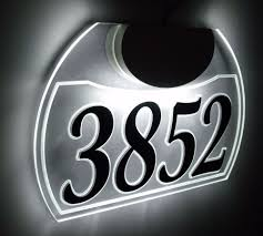 Lighted House Number Sign Edge Lit Custom Led Lighted Acrylic Address Sign Luminous House