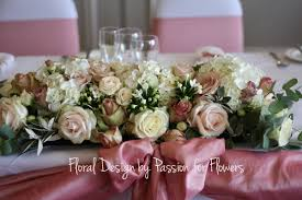 top table or ceremony table vintage rose decoration by www