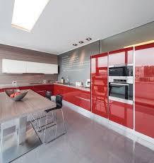 panneau cuisine design interieur couleur cuisine façade armoires laque