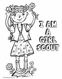 awesome collection scout daisy coloring pages form