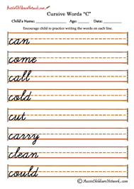 cursive writing worksheets c c road year pinterest