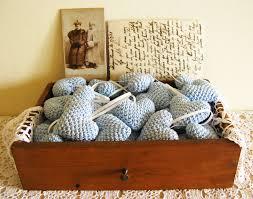 50 wedding table favors crochet heart decoration for shower