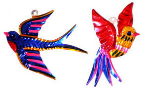 singing bird ornaments 4 set of 6 company