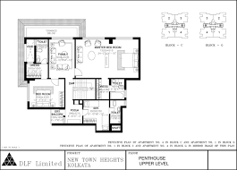 dlf new town heights kolkata apartments floor plans penthouse upper level