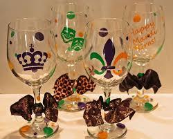 mardi gras glasses mardi gras wine glasses set of 4