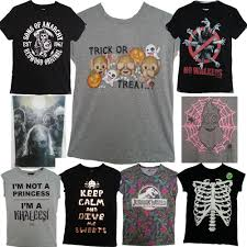 Halloween T Shirts by Ladies Mens Halloween T Shirt Costumes Character Tee Shirt Top 6