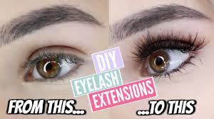 diy permanent eyelash extensions at home youtube