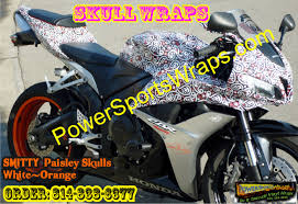 cvr bike honda cbr paisley skulls vinyl wrap bike wraps motorcycle wraps