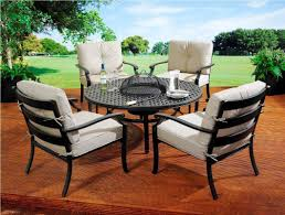 Patio Furniture With Fire Pit Set - custom fire pit tables ideas