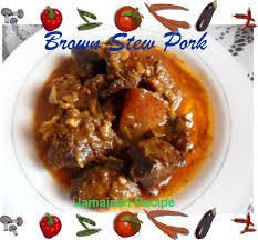 Delicious Main Course With Braised Pork Cheeks Pickled Best Recipe For Jamaican Stew Pork Delishably