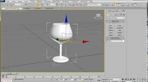 3d Max by 3ds Max Spline Modeling A Wine Glass Youtube