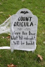 homemade tombstone gravestone count dracula halloween