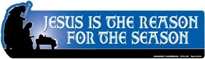 jesus is the reason for the season bumper magnet