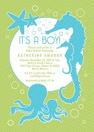 the sea baby shower invitations sea and theme baby shower invitation custom boy