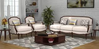 Fabric Sofas Buy Fabric Sofa Set Online  Get  OFF  WoodenStreet - Sofa set designs india