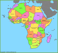 World Continents And Countries Map by Map Of Africa With Countries And Capitals