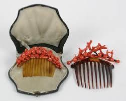 antique hair combs coral hair combs barbaraanne s hair comb