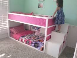 bunk beds girls ikea kura bunk bed with trofast stairs pintalumi pinterest