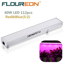 floureon 60w 112 led hydroponic plant full spectrum grow light