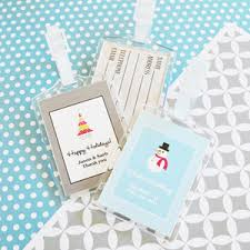 themed luggage tags a winter acrylic luggage tags winter wedding