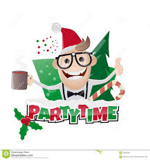 funny christmas party man stock vector image 56693590