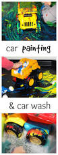 painting with toy cars messy little monster
