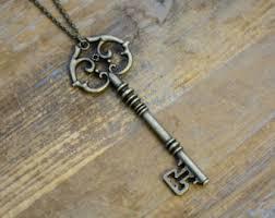 vintage key necklace images Antique key jewelry etsy jpg