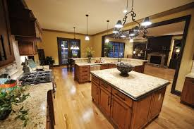 kitchen cabinets with hardwood floors wood floors