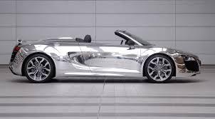 Audi R8 Spyder - chrome audi r8 spyder side view eurocar news