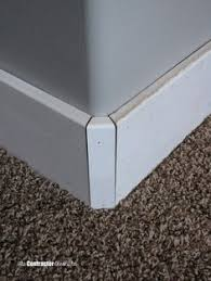Bathroom Baseboard Ideas How To Cut Baseboard For A Rounded Corner The Contractor