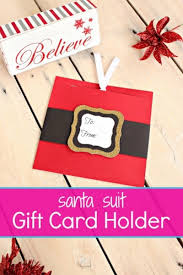 make a gift card santa suit gift card holders the way to make a gift card