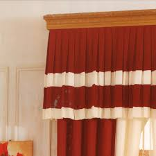 Linen Valance Red Curtain Linen Cotton Blend No Valance