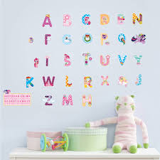Wall Decal Letters For Nursery Alphabet Lovely Letters Wall Stickers For Rooms