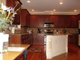 Cherry Glaze Cabinets Cornerstone Kitchens Nc Photo Gallery Of Cabinet Refacing Projects