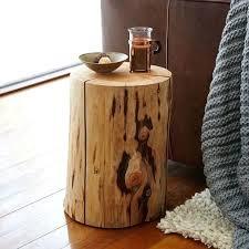 wood stump coffee table natural tree stump side table west elm natural tree stump side table