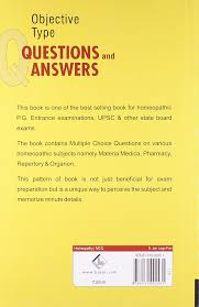 buy objective type questions and answers in materia medica