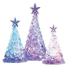 color changing led acrylic trees 3 pack shopko
