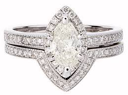 diamond wedding ring sets for certified prong set marquise diamond wedding ring set in 18k white