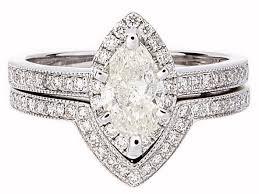 diamond wedding ring sets certified prong set marquise diamond wedding ring set in 18k white